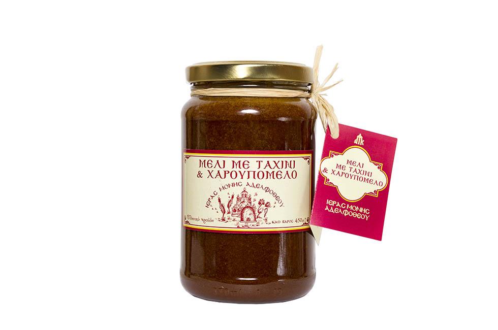 Μέλι με Ταχίνι και Χαρουπόμελο